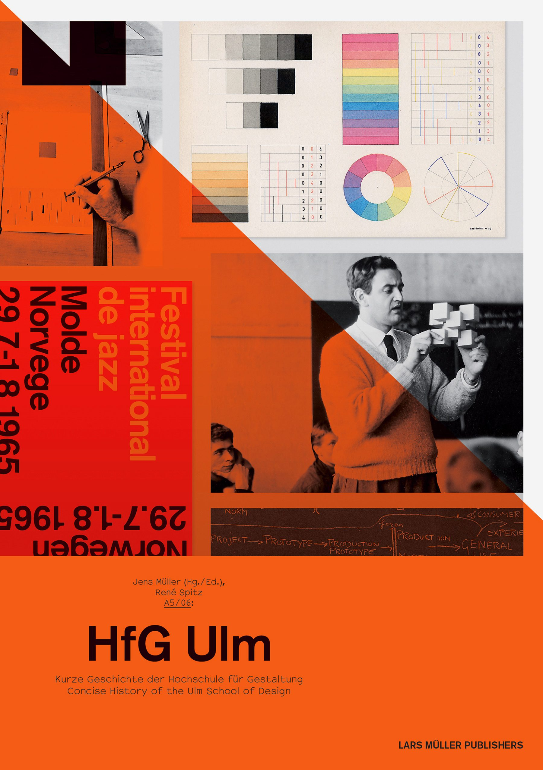 A5/06: HfG Ulm – Concise History of the Ulm School of Design, René Spitz, Jens Müller, Lars Müller Publishers, Cover, David Fischbach