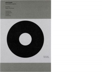 phono/graph – sound letters graphics, Cover