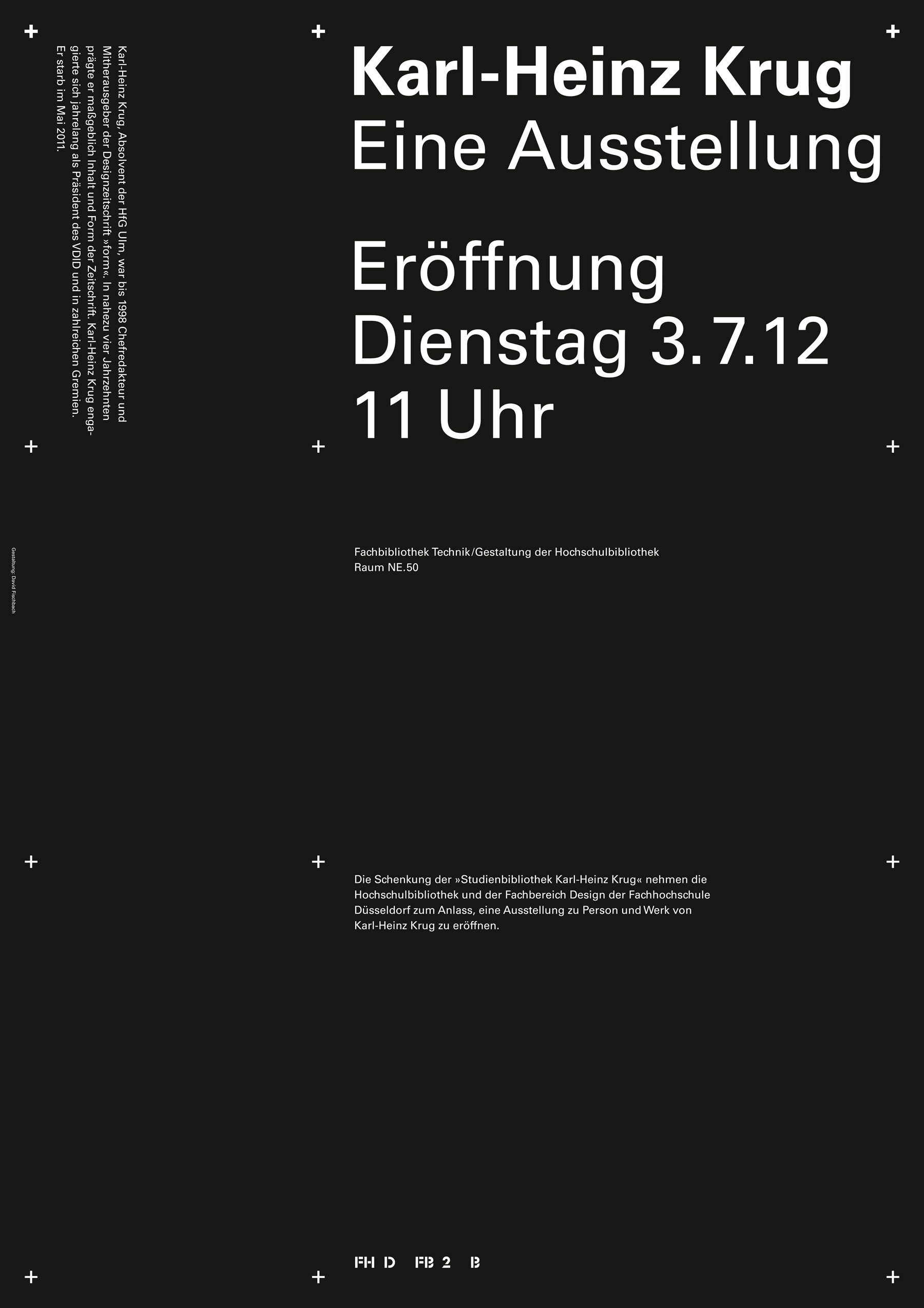 Poster, The Karl-Heinz Krug Research Library, black
