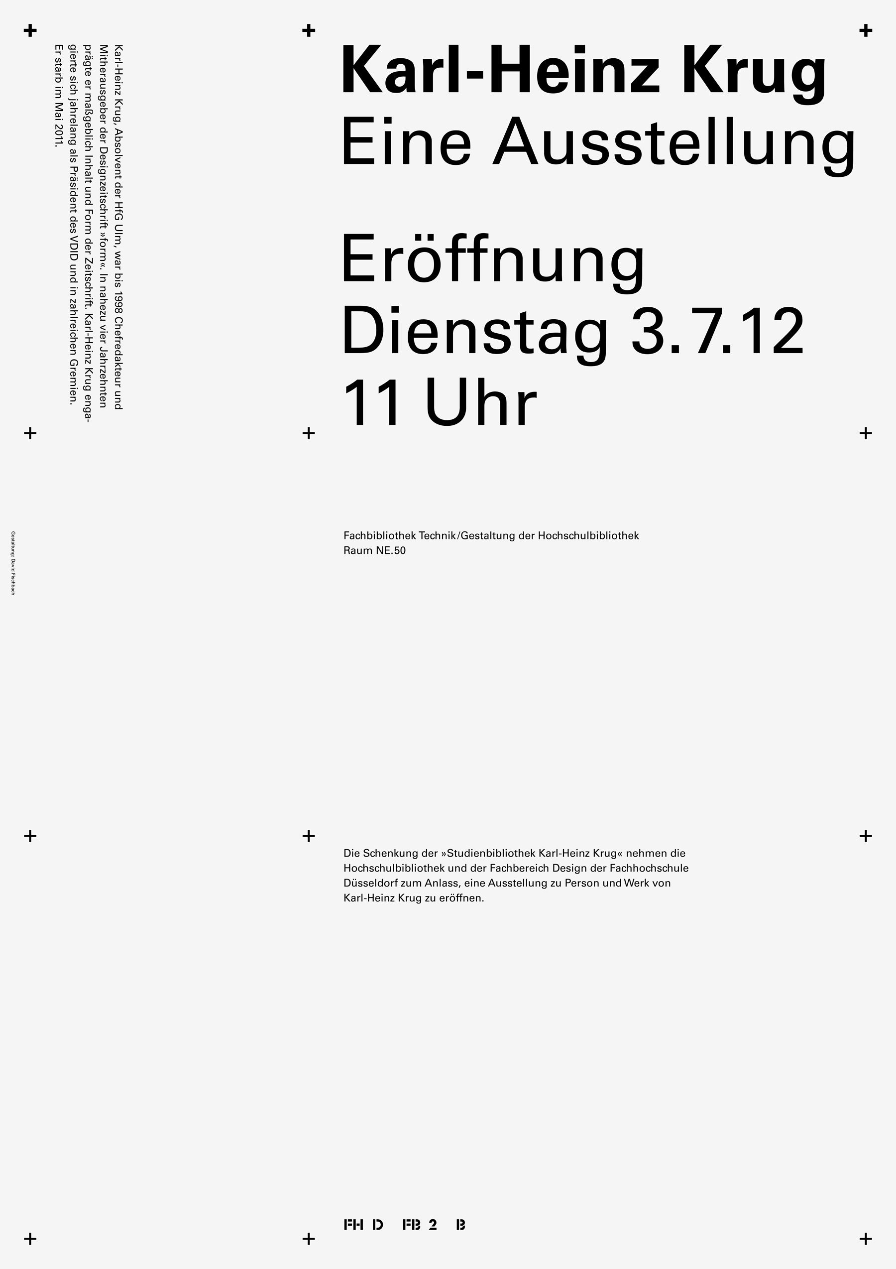 Poster, The Karl-Heinz Krug Research Library, white