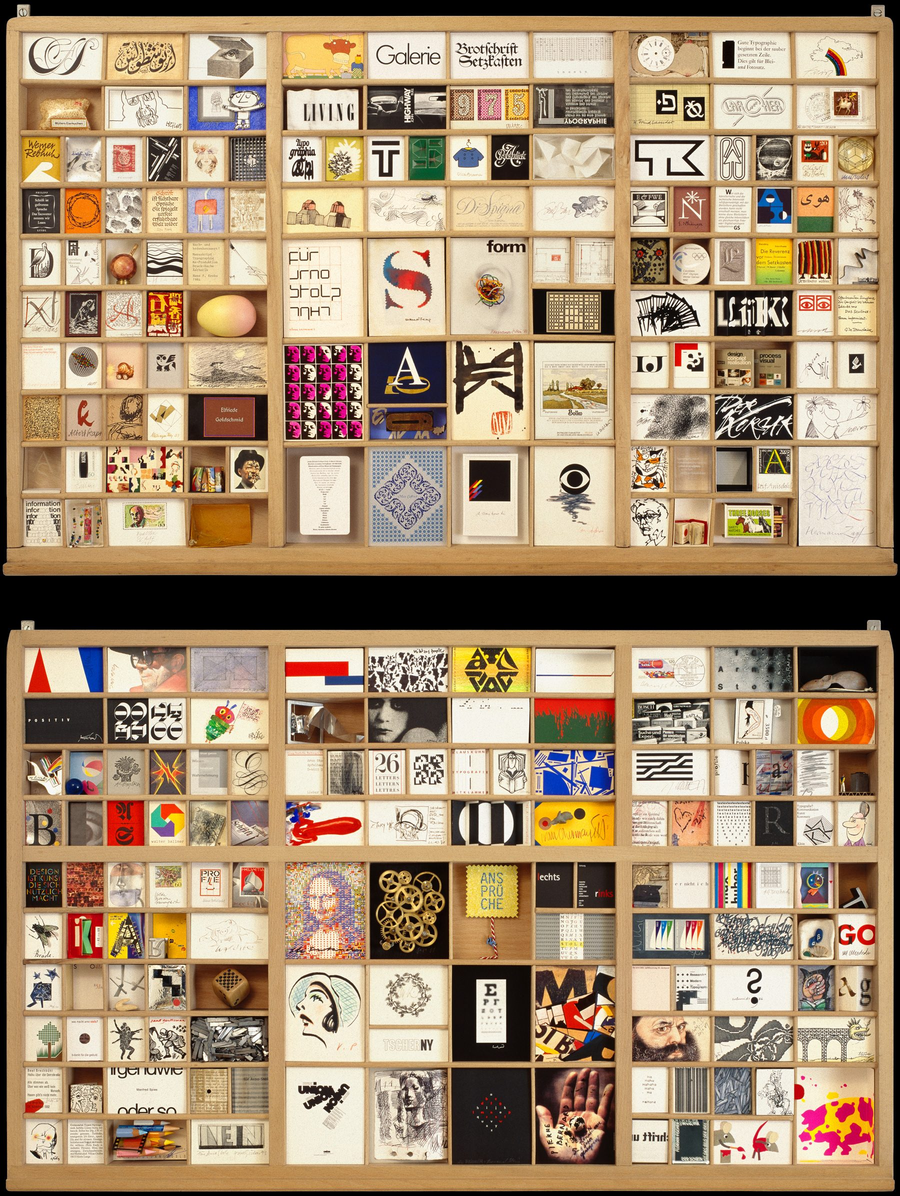 A Gallery in Type Cases – The Arno Stolz Collection, 9k-Galerie, Exhibition, David Fischbach