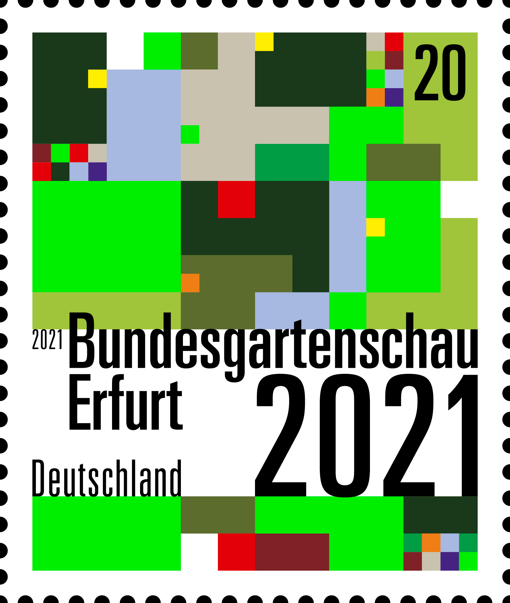 Special postage stamps, Bundesgartenschau Erfurt 2021, Federal Ministry of Finance, David Fischbach